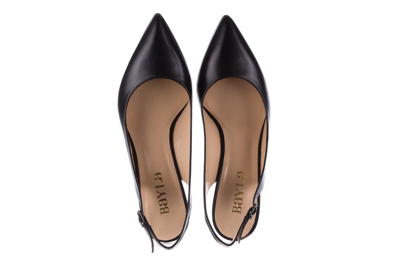 Sandały bayla-182 18014 czarne lico, skóra naturalna  - skórzane - szpilki - buty damskie - kobieta 10