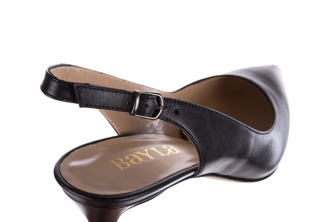 Sandały bayla-182 18014 czarne lico, skóra naturalna  - skórzane - szpilki - buty damskie - kobieta 11