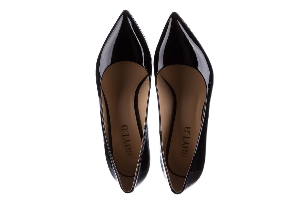 Czółenka bayla-182 6168 czarny lakier, skóra naturalna lakierowana  - skórzane - szpilki - buty damskie - kobieta 10