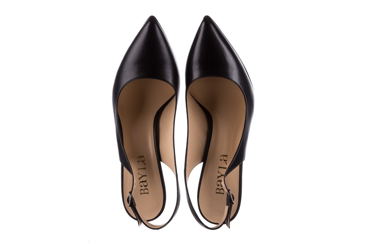 Sandały bayla-182 18122 czarne lico, skóra naturalna  - skórzane - szpilki - buty damskie - kobieta 10