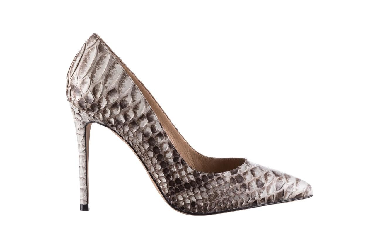 Szpilki bayla-182 2149 jasnoszare łuska, skóra naturalna  - skórzane - szpilki - buty damskie - kobieta 7