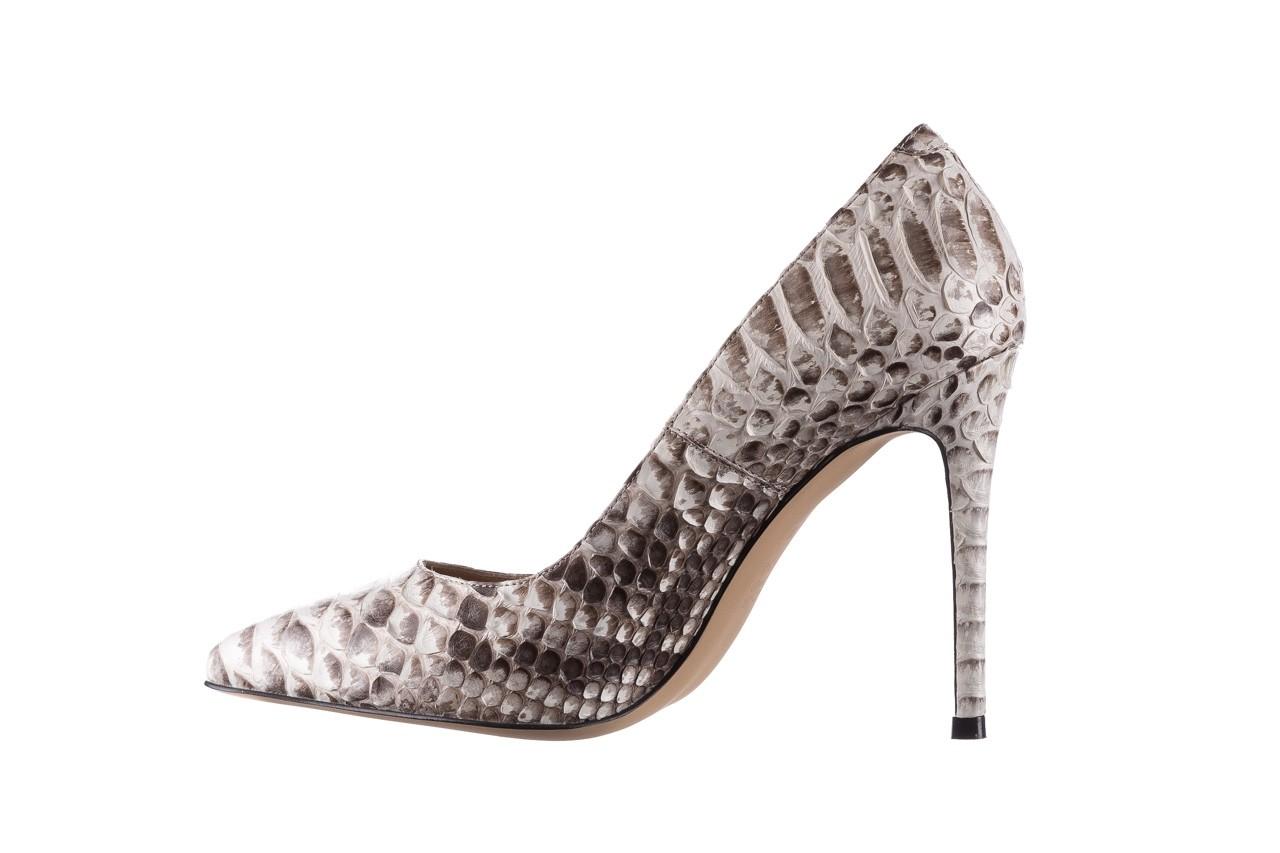Szpilki bayla-182 2149 jasnoszare łuska, skóra naturalna  - skórzane - szpilki - buty damskie - kobieta 9