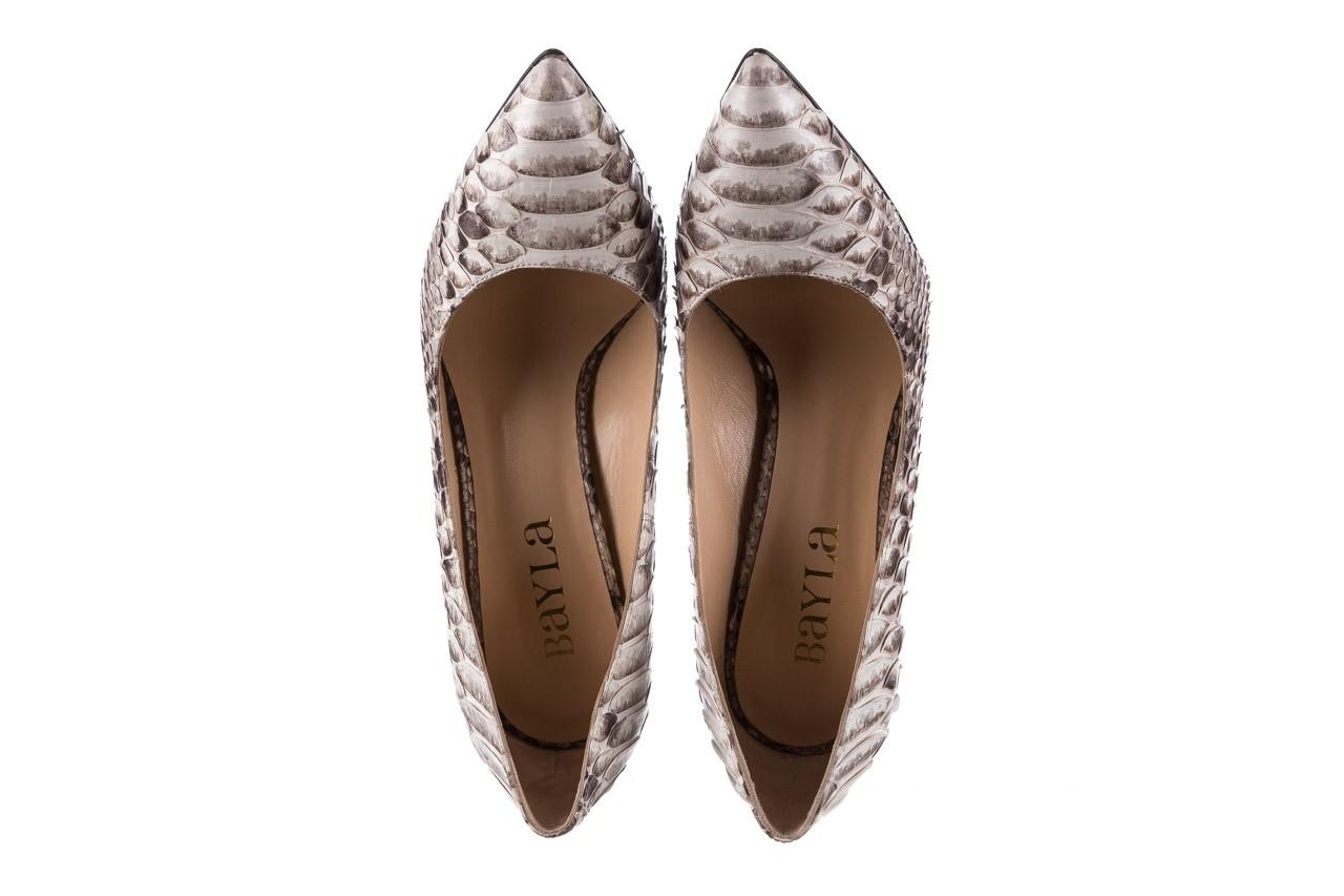 Szpilki bayla-182 2149 jasnoszare łuska, skóra naturalna  - skórzane - szpilki - buty damskie - kobieta 11