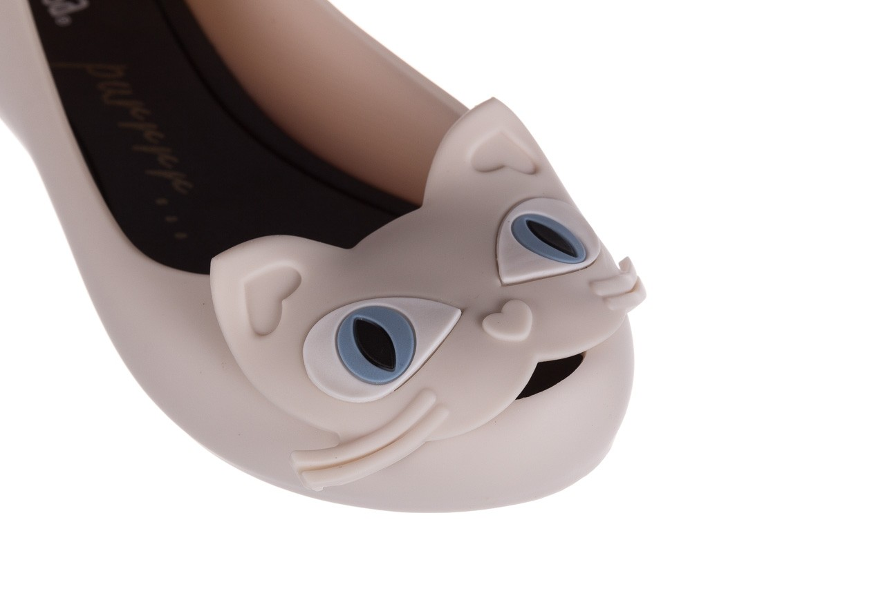 Baleriny melissa ultragirl cat ii ad beige black, beż, guma - melissa - nasze marki 12