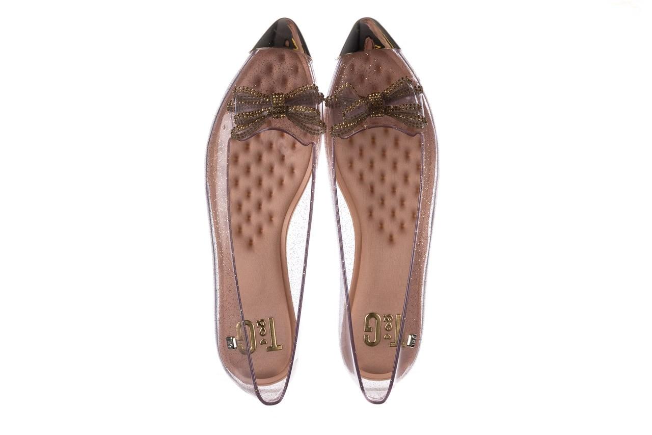 Baleriny t&g fashion 22-1444997 ouro, złoty, guma - tg - nasze marki 11