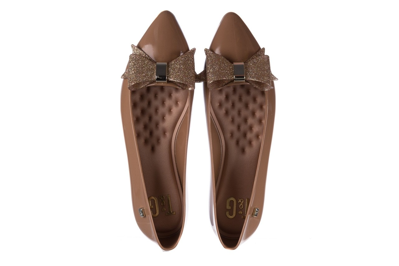 Baleriny t&g fashion 22-1448315 camel, brąz, guma - tg - nasze marki 11