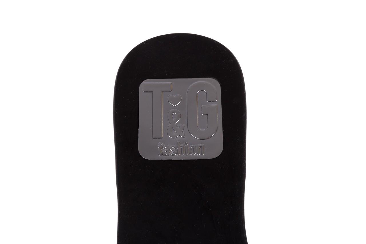 Klapki t&g fashion 22-1348679 preto, czarny, guma - tg - nasze marki 13