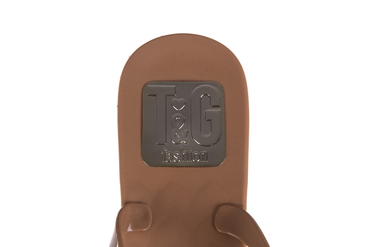 Klapki t&g fashion 22-1368315 camel, brąz, guma - tg - nasze marki 13
