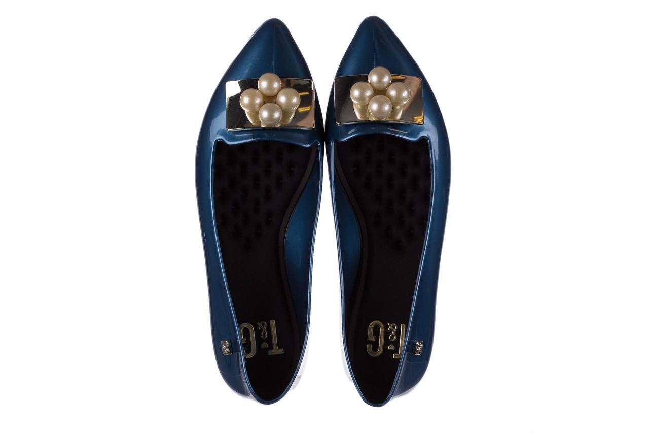 Baleriny t&g fashion 22-1448846 azul nautico, niebieski, guma - tg - nasze marki 11