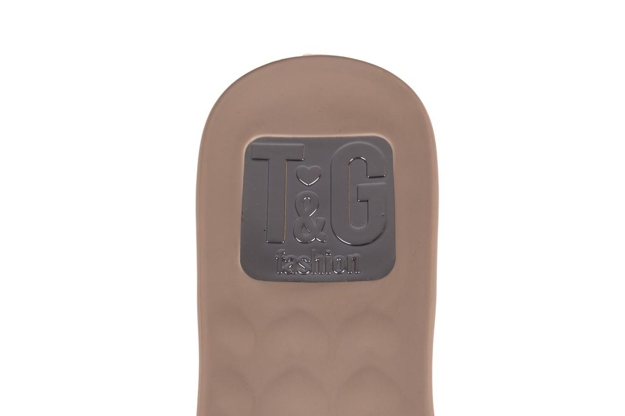 Klapki t&g fashion 22-1348679 nude, beż, guma - tg - nasze marki 13