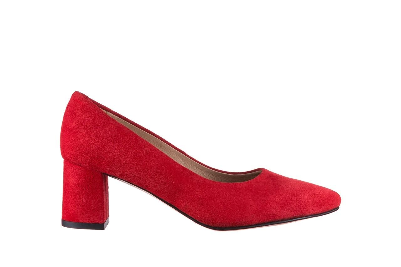 Czółenka bayla-185 185 109 czerwony zamsz, skóra naturalna  - bayla - nasze marki 6