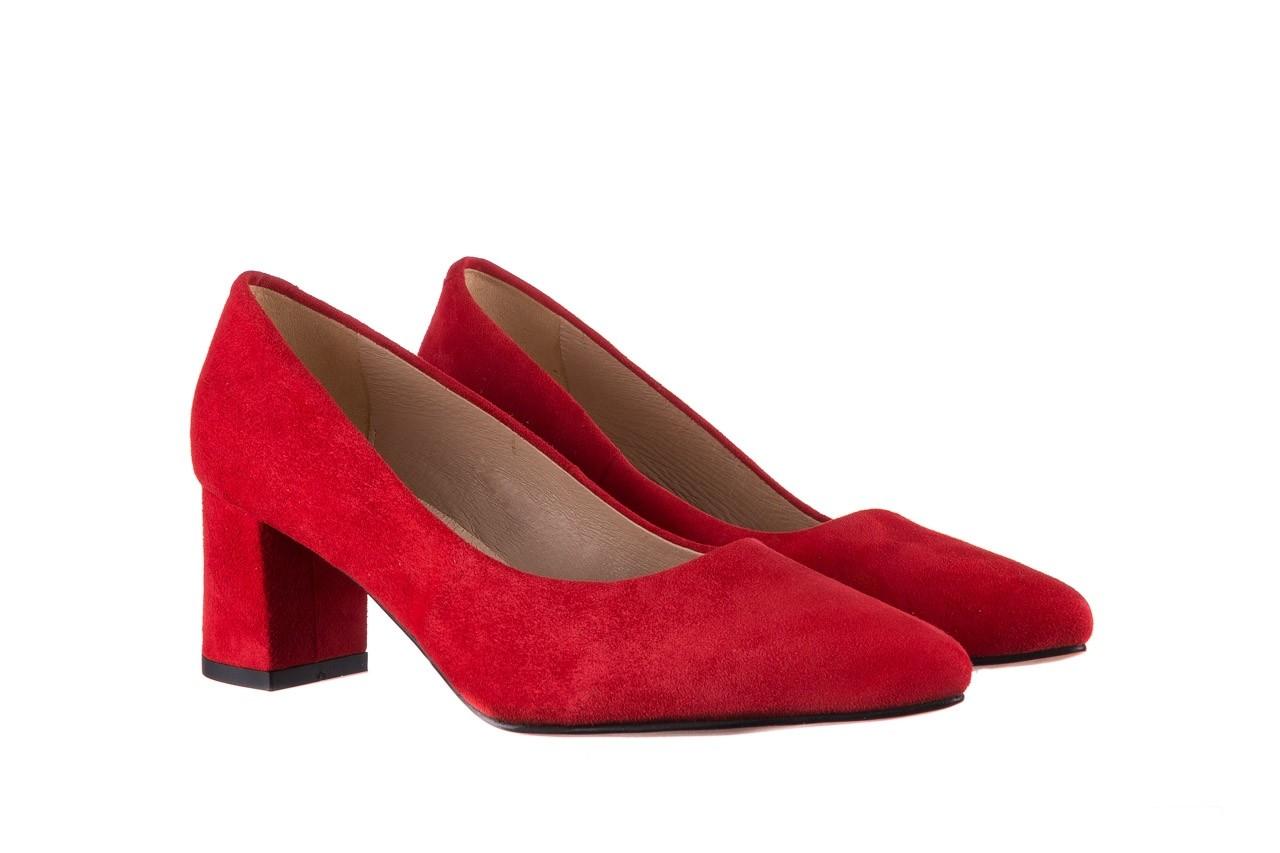 Czółenka bayla-185 185 109 czerwony zamsz, skóra naturalna  - bayla - nasze marki 7