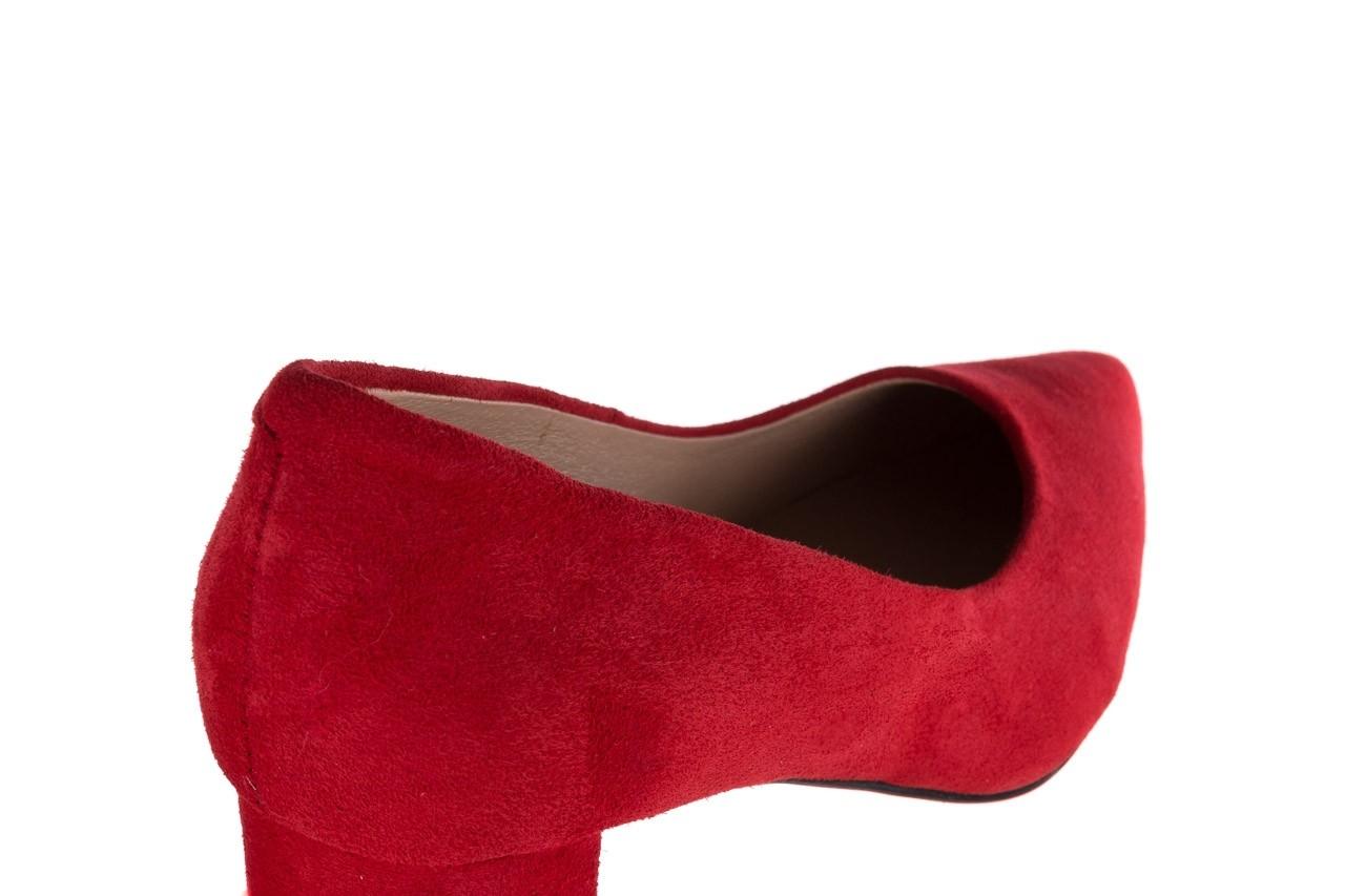 Czółenka bayla-185 185 109 czerwony zamsz, skóra naturalna  - bayla - nasze marki 11
