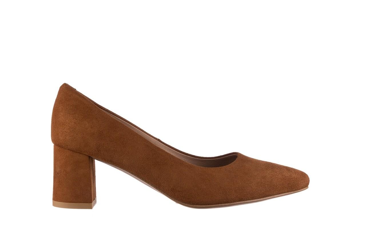 Czółenka bayla-185 185 109 rudy zamsz, skóra naturalna  - na słupku - czółenka - buty damskie - kobieta 6