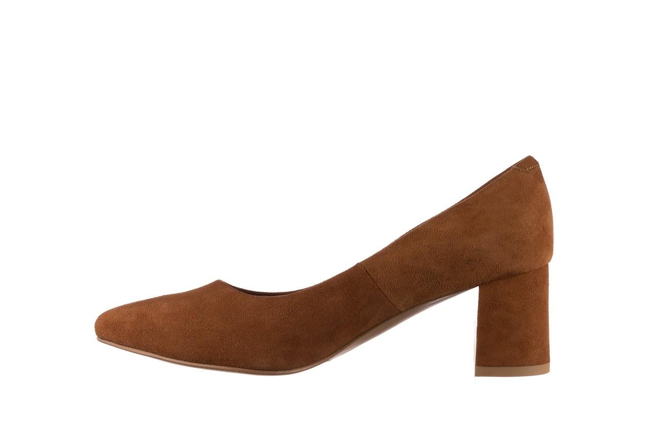 Czółenka bayla-185 185 109 rudy zamsz, skóra naturalna  - na słupku - czółenka - buty damskie - kobieta 8