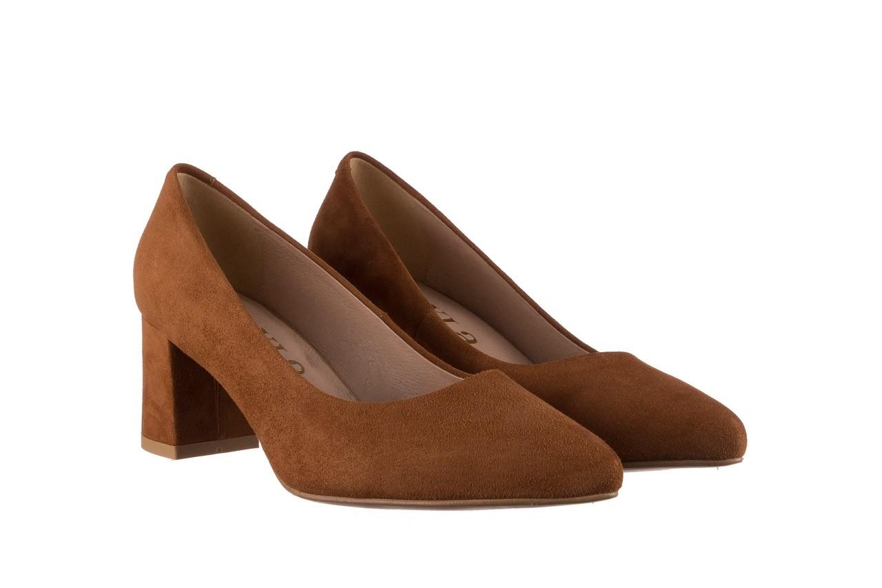 Czółenka bayla-185 185 109 rudy zamsz, skóra naturalna  - na słupku - czółenka - buty damskie - kobieta 7