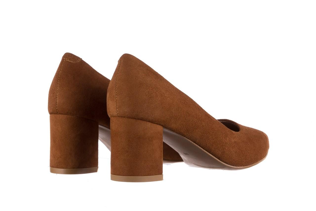 Czółenka bayla-185 185 109 rudy zamsz, skóra naturalna  - na słupku - czółenka - buty damskie - kobieta 9