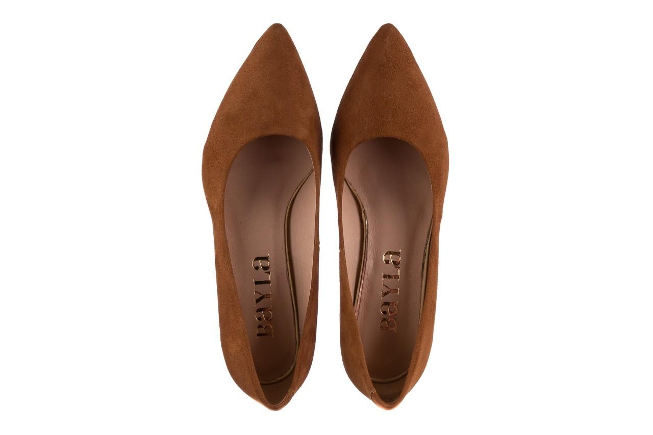 Czółenka bayla-185 185 109 rudy zamsz, skóra naturalna  - na słupku - czółenka - buty damskie - kobieta 10