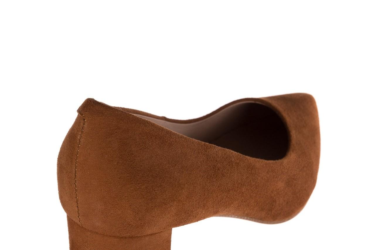 Czółenka bayla-185 185 109 rudy zamsz, skóra naturalna  - na słupku - czółenka - buty damskie - kobieta 11