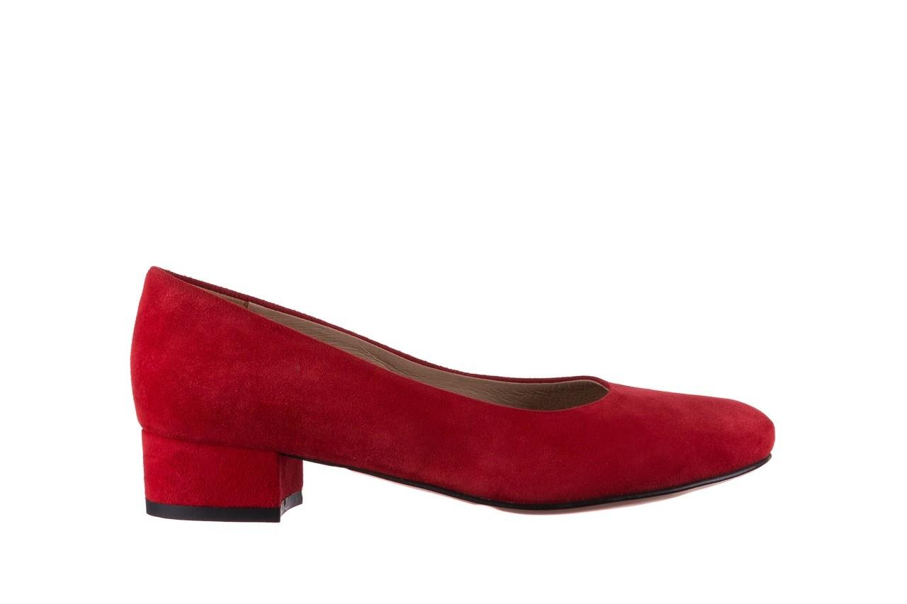 Czółenka bayla-185 185 107 czerwony zamsz, skóra naturalna  - czółenka i szpilki - dla niej  - sale 6