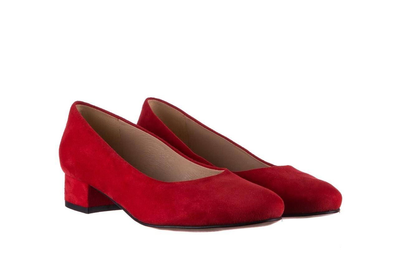 Czółenka bayla-185 185 107 czerwony zamsz, skóra naturalna  - czółenka i szpilki - dla niej  - sale 7