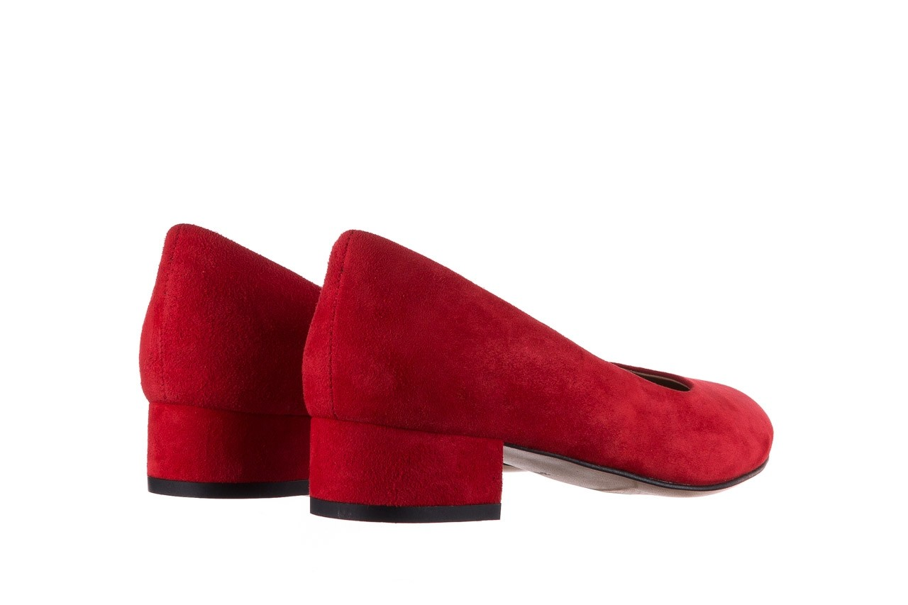 Czółenka bayla-185 185 107 czerwony zamsz, skóra naturalna  - czółenka i szpilki - dla niej  - sale 9
