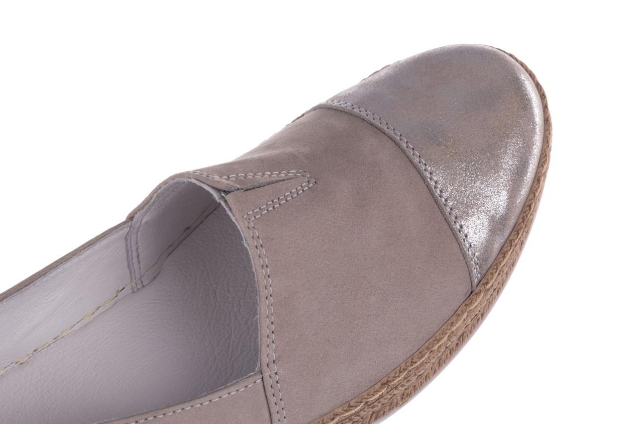 Espadryle bayla-100 485 szary, skóra naturalna  - espadryle - buty damskie - kobieta 13