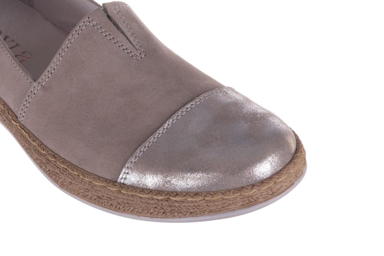 Espadryle bayla-100 485 szary, skóra naturalna  - espadryle - buty damskie - kobieta 14