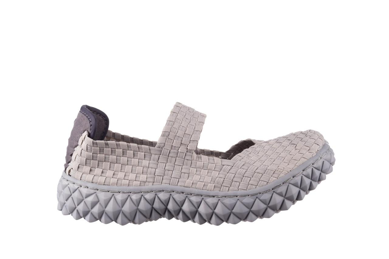 Półbuty rock over lt grey 21 032857, szary, materiał - wsuwane - półbuty - buty damskie - kobieta 7
