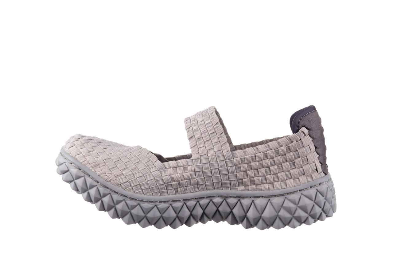 Półbuty rock over lt grey 21 032857, szary, materiał - wsuwane - półbuty - buty damskie - kobieta 9