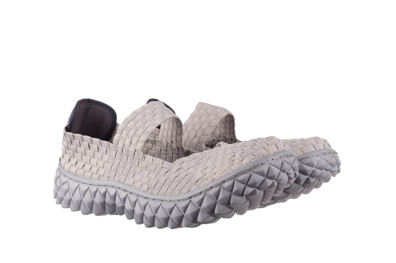 Półbuty rock over lt grey 21 032857, szary, materiał - wsuwane - półbuty - buty damskie - kobieta 8