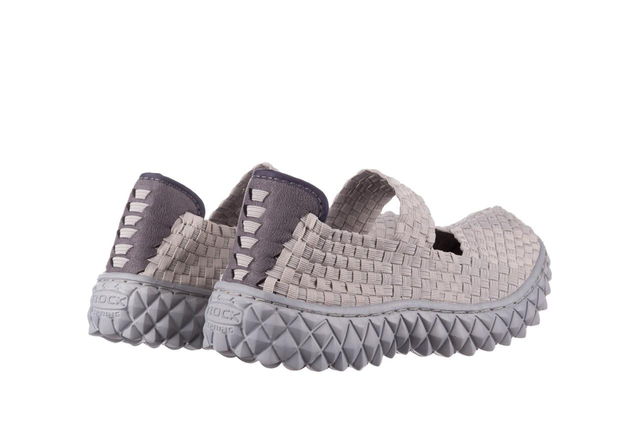 Półbuty rock over lt grey 21 032857, szary, materiał - wsuwane - półbuty - buty damskie - kobieta 10