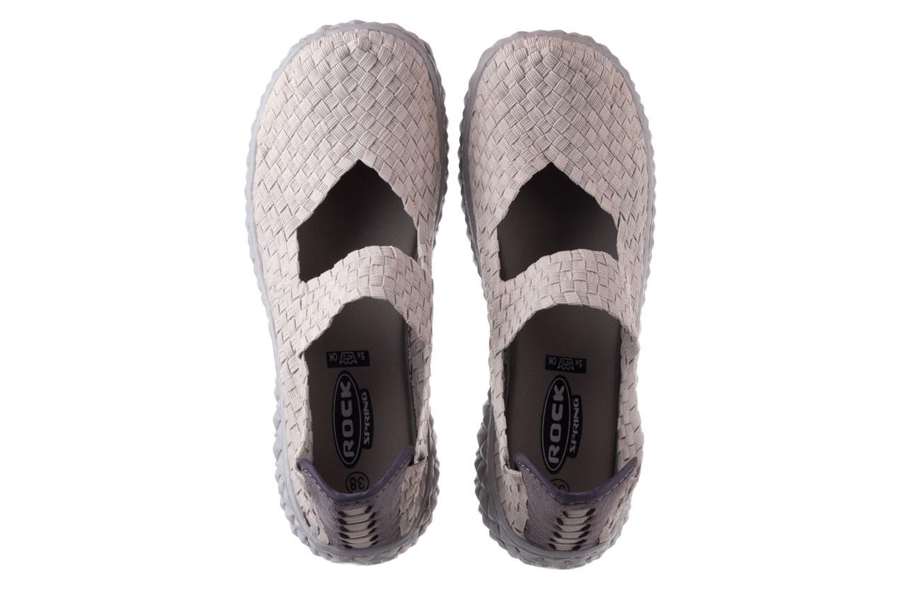 Półbuty rock over lt grey 21 032857, szary, materiał - wsuwane - półbuty - buty damskie - kobieta 11