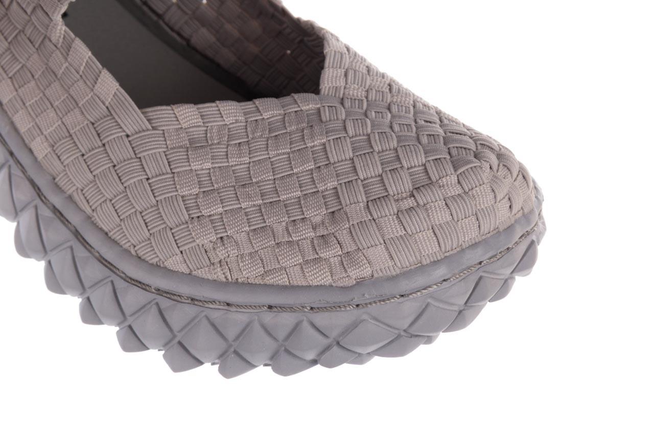 Półbuty rock over lt grey 21 032857, szary, materiał - wsuwane - półbuty - buty damskie - kobieta 13