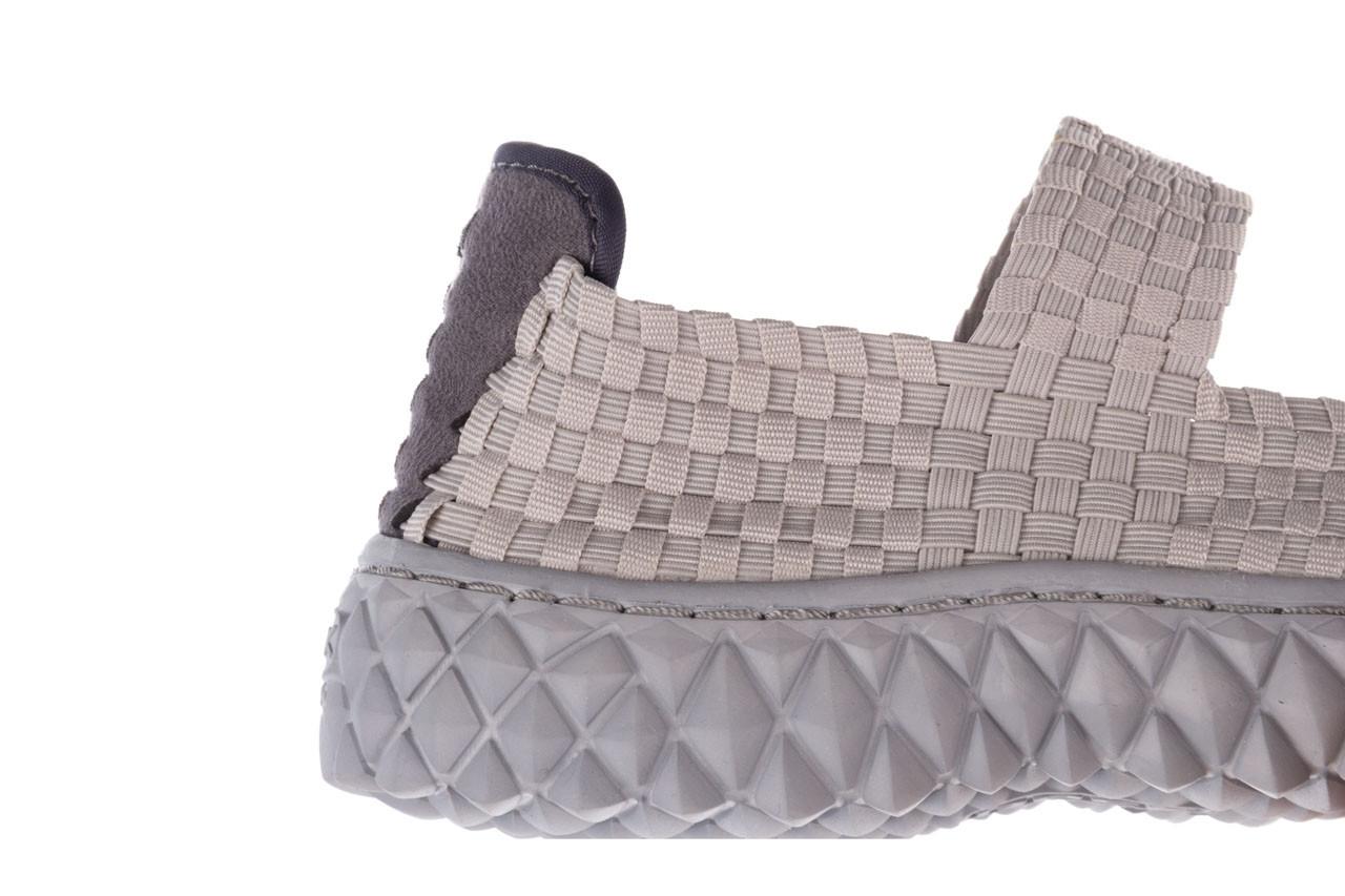Półbuty rock over lt grey 21 032857, szary, materiał - wsuwane - półbuty - buty damskie - kobieta 12