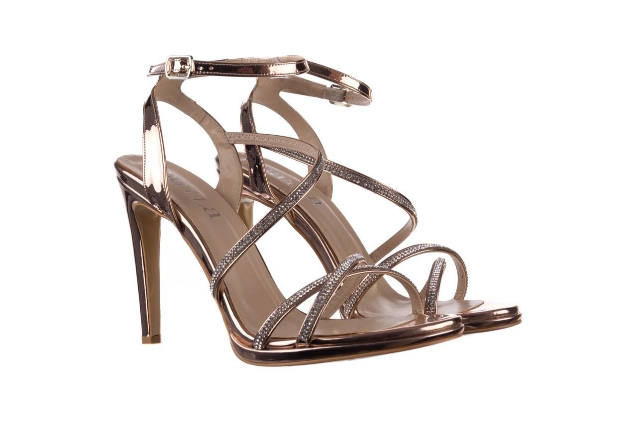 Sandały bayla-187 589-9078 róż j, skóra ekologiczna  - na obcasie - sandały - buty damskie - kobieta 8