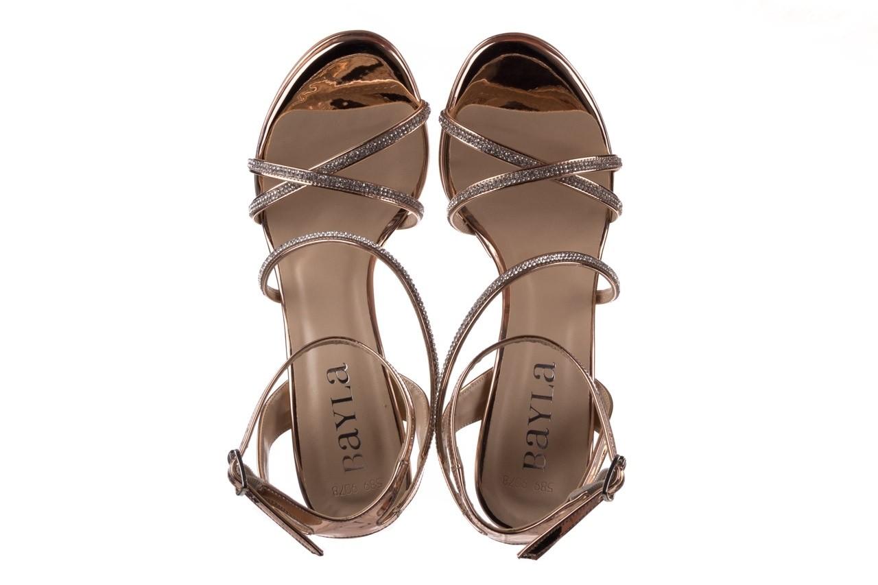 Sandały bayla-187 589-9078 róż j, skóra ekologiczna  - na obcasie - sandały - buty damskie - kobieta 11