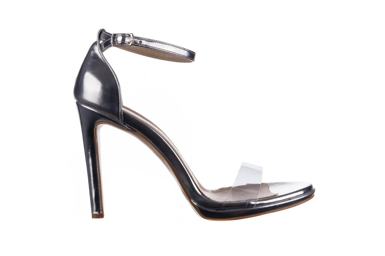 Sandały bayla-187 589-571 srebro, skóra ekologiczna  - na szpilce - sandały - buty damskie - kobieta 7