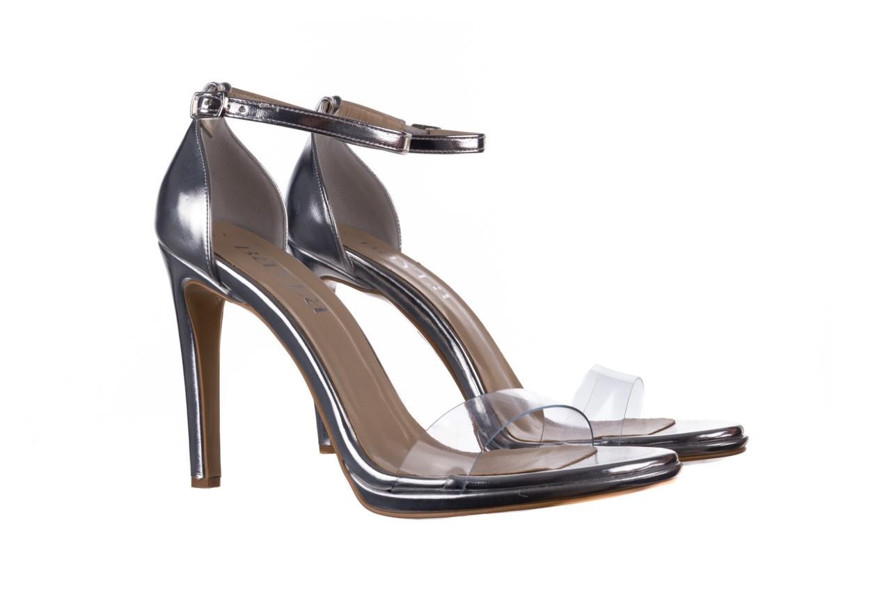Sandały bayla-187 589-571 srebro, skóra ekologiczna  - na szpilce - sandały - buty damskie - kobieta 8