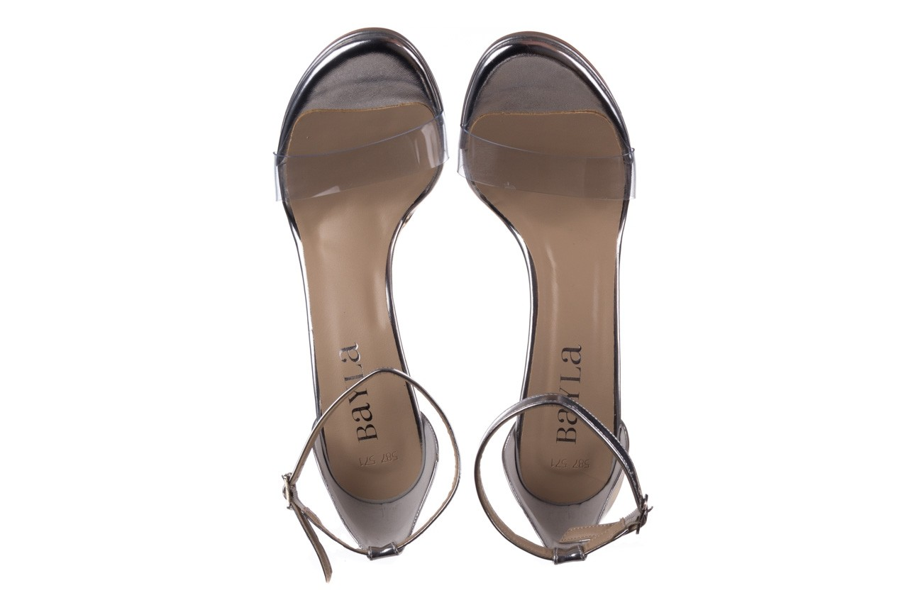 Sandały bayla-187 589-571 srebro, skóra ekologiczna  - na szpilce - sandały - buty damskie - kobieta 11