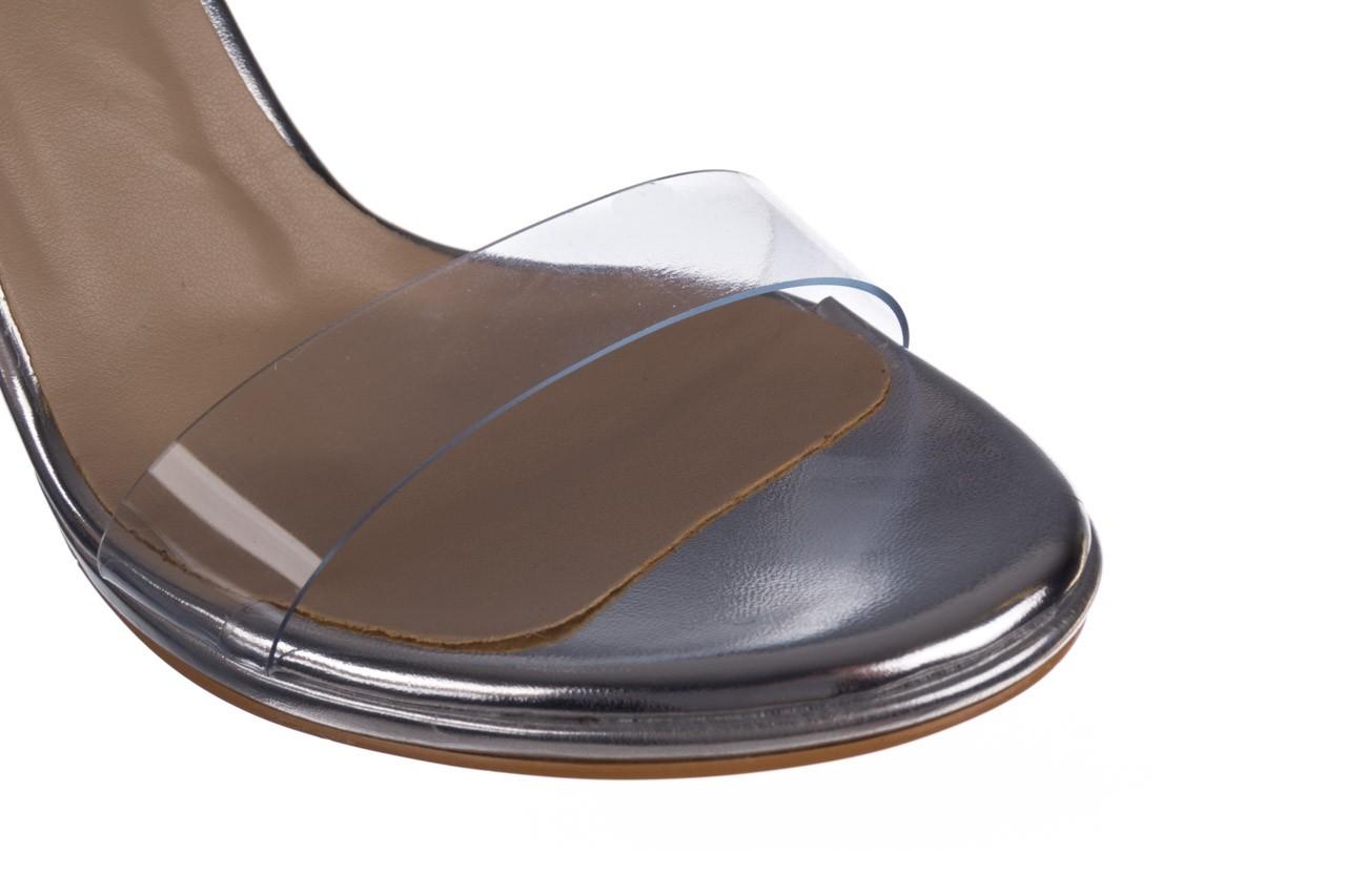 Sandały bayla-187 589-571 srebro, skóra ekologiczna  - na szpilce - sandały - buty damskie - kobieta 12