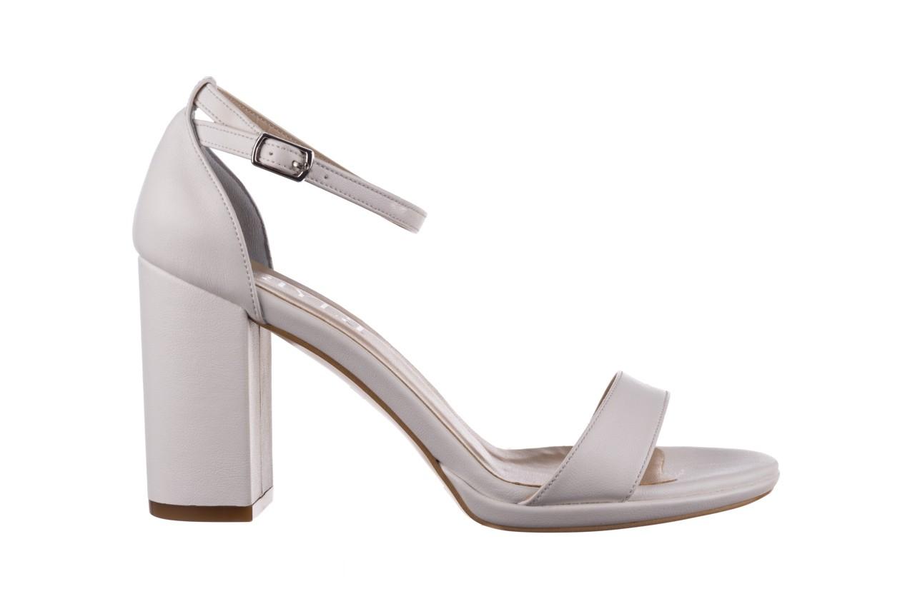 Sandały bayla-187 587-571 biały, skóra ekologiczna  - peep toe - czółenka - buty damskie - kobieta 7