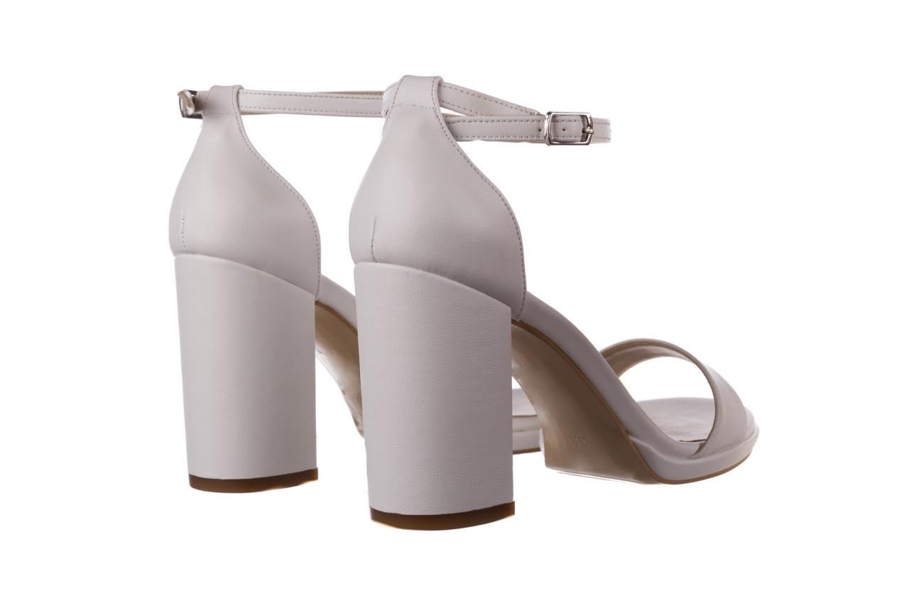 Sandały bayla-187 587-571 biały, skóra ekologiczna  - peep toe - czółenka - buty damskie - kobieta 10