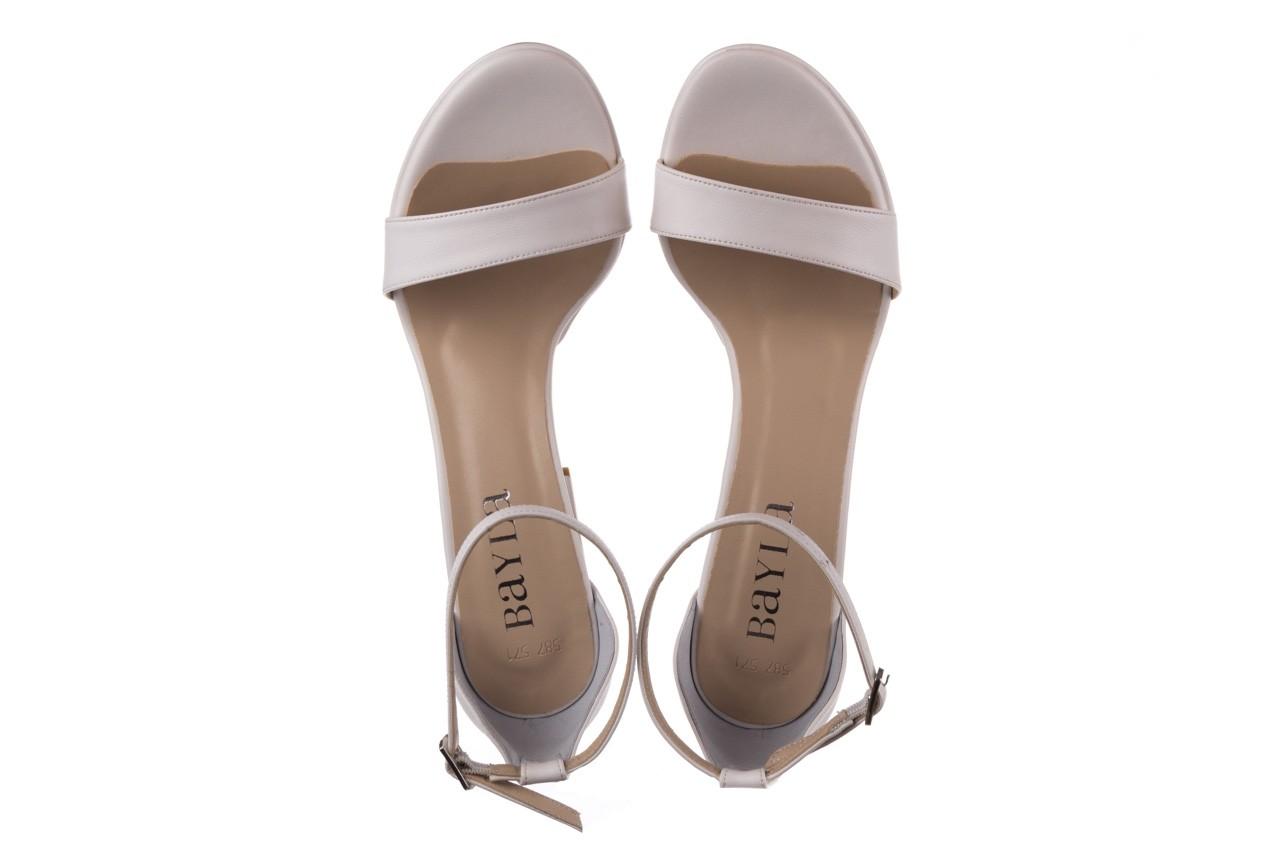 Sandały bayla-187 587-571 biały, skóra ekologiczna  - peep toe - czółenka - buty damskie - kobieta 11
