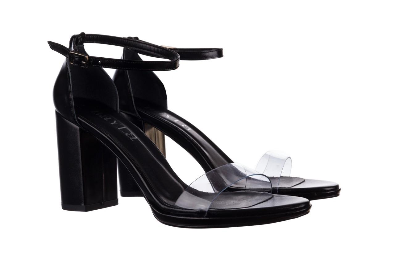 Sandały bayla-187 587-571 czarny, skóra ekologiczna  - na słupku - czółenka - buty damskie - kobieta 8