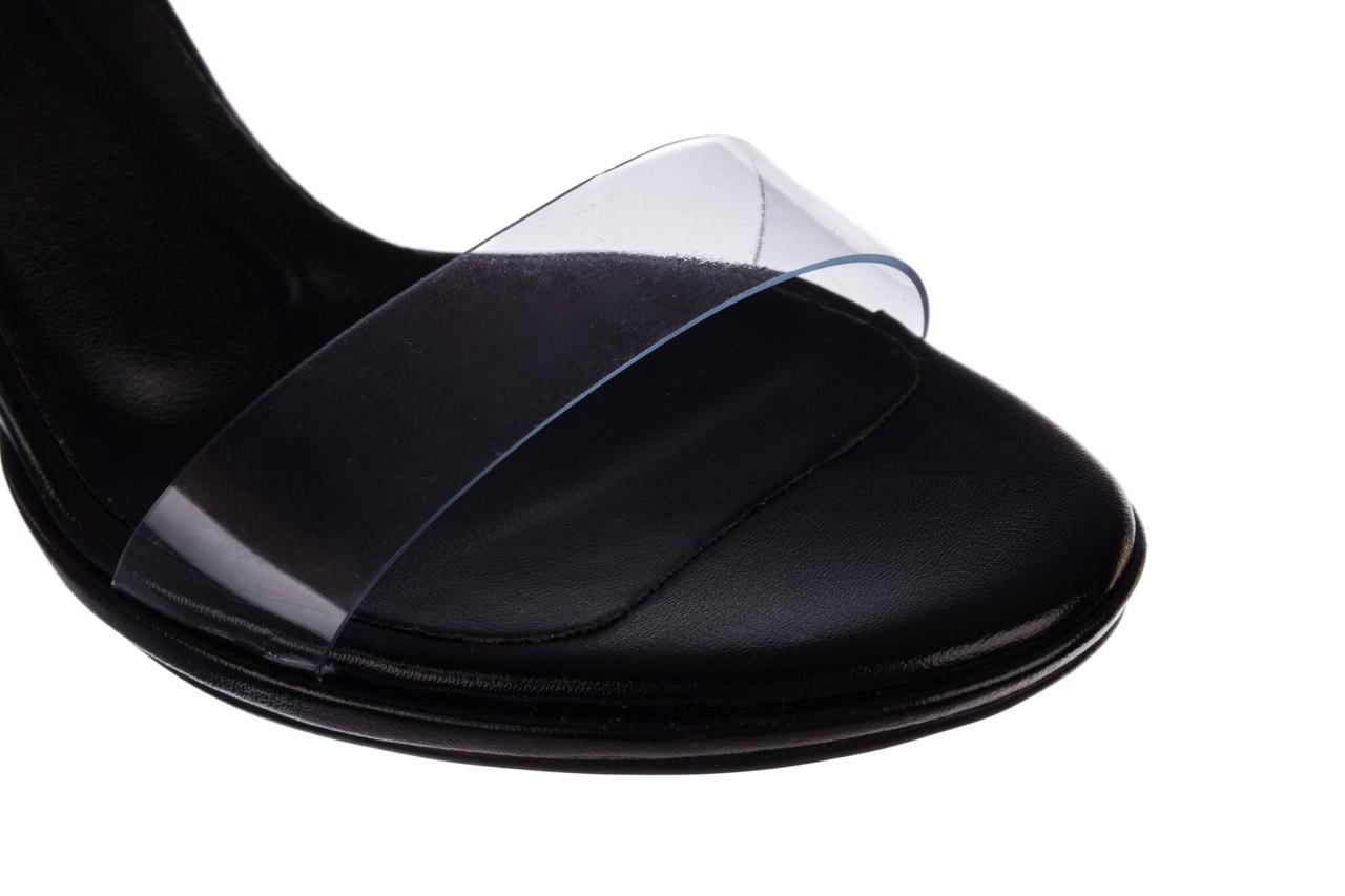 Sandały bayla-187 587-571 czarny, skóra ekologiczna  - na słupku - czółenka - buty damskie - kobieta 13