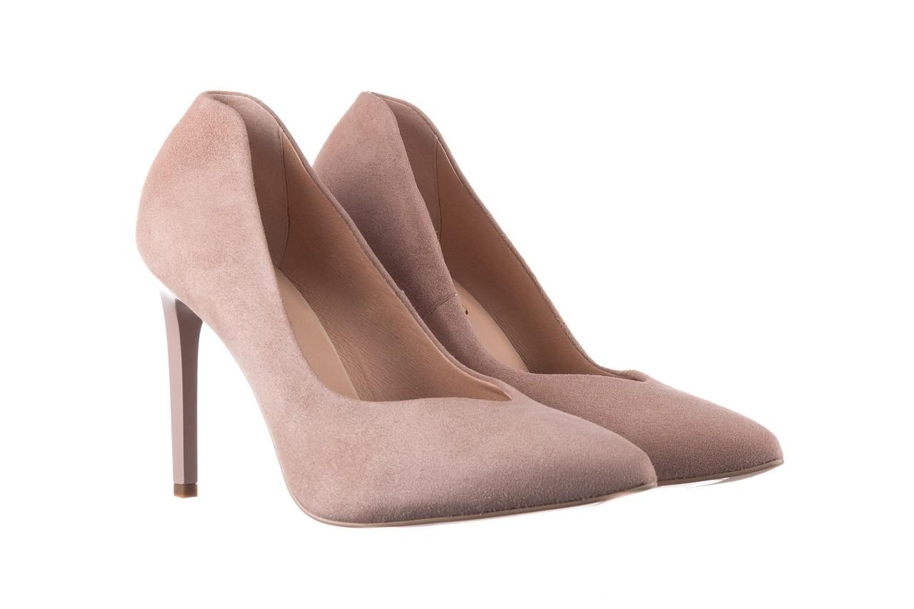 Szpilki bayla-056 9174-140 beż zamsz, skóra naturalna  - zamszowe - szpilki - buty damskie - kobieta 7
