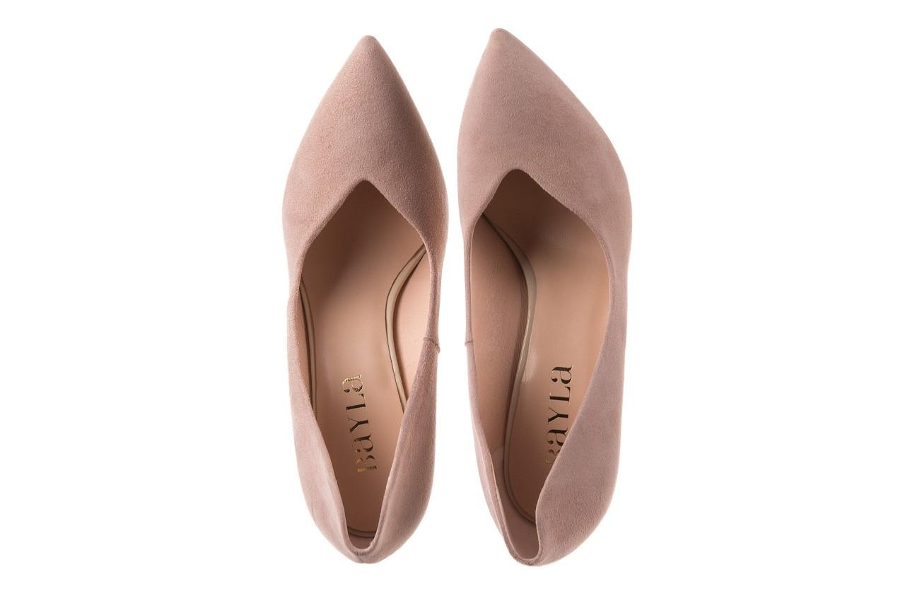 Szpilki bayla-056 9174-140 beż zamsz, skóra naturalna  - zamszowe - szpilki - buty damskie - kobieta 10