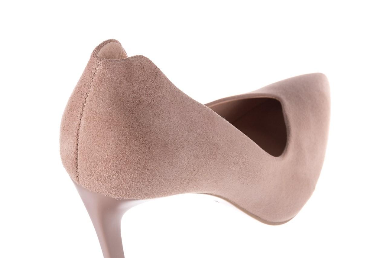 Szpilki bayla-056 9174-140 beż zamsz, skóra naturalna  - zamszowe - szpilki - buty damskie - kobieta 11