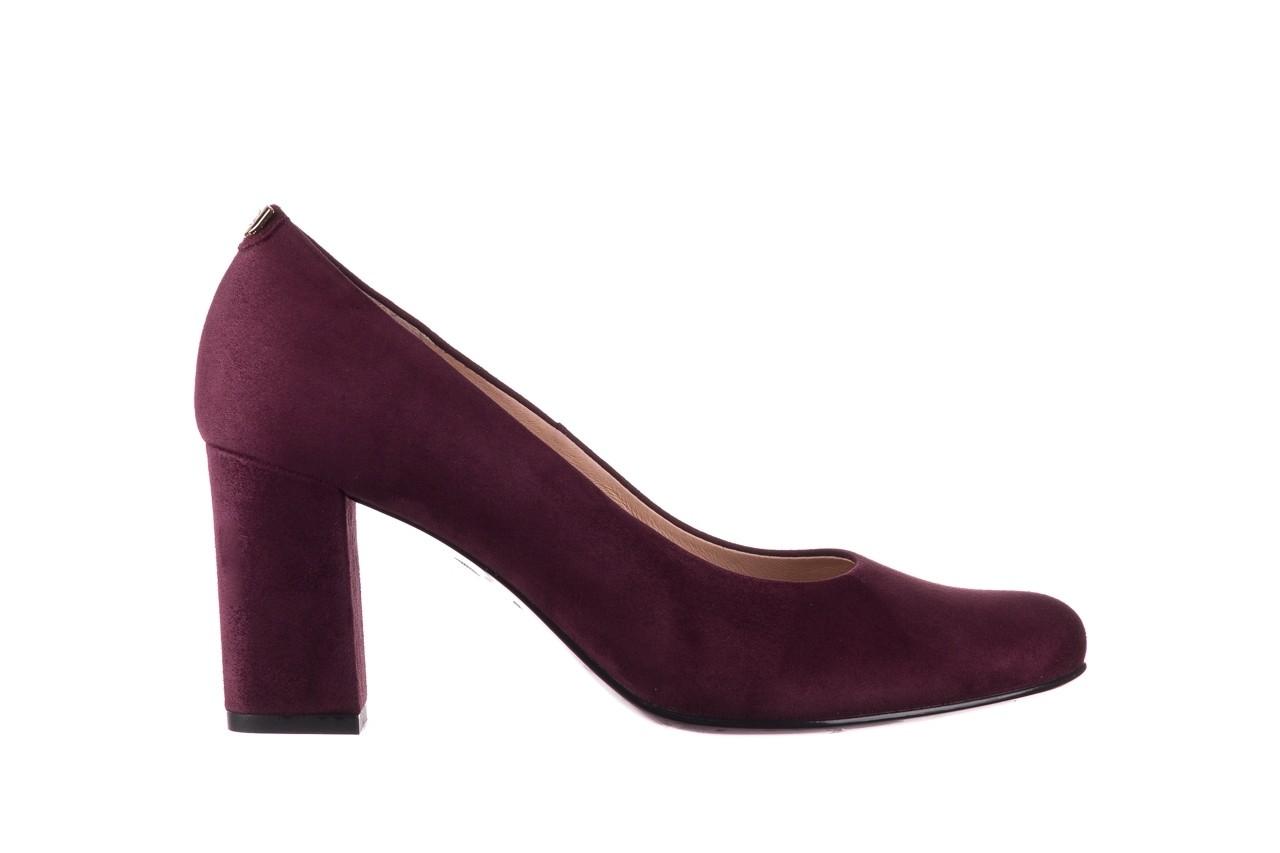 Czółenka bayla-056 9214-1321 fiolet zamsz 20, skóra naturalna  - na słupku - czółenka - buty damskie - kobieta 6